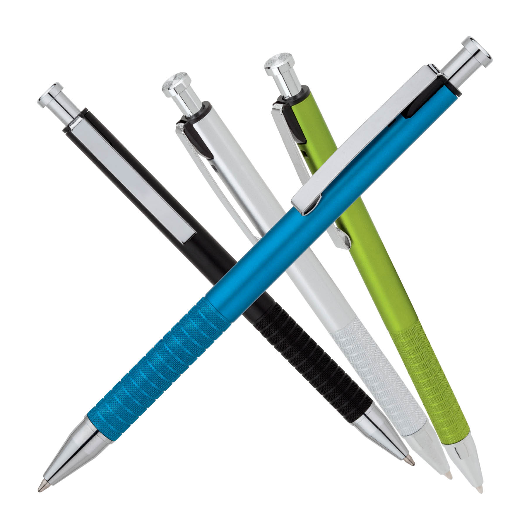 Ballpoint Pen w/ Textured Metal Grip