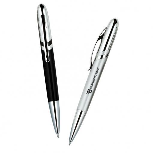 Bettoni Collection Ballpoint Pen w/ Diagonal Stripe Design