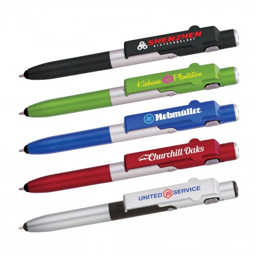4-in-1 Ballpoint Pen/LED/Phone Stand/Stylus