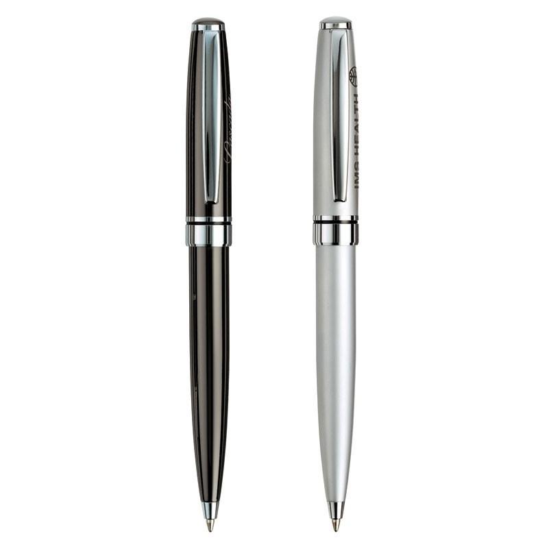 Estrella Solid Brass Ballpoint Pen w/Chrome Trim