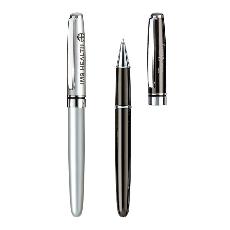 Estrella Solid Brass Roller Ball Pen w/Chrome Trim