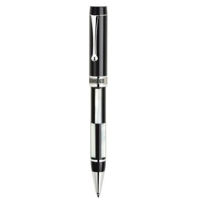 Provano Bettoni Collection Twist Action Ballpoint Pen w/Mother of Pearl & Onyx