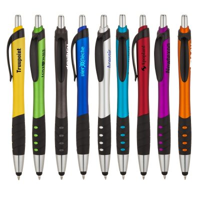 Wave® Ballpoint Pen / Stylus with Black Rubber Grip